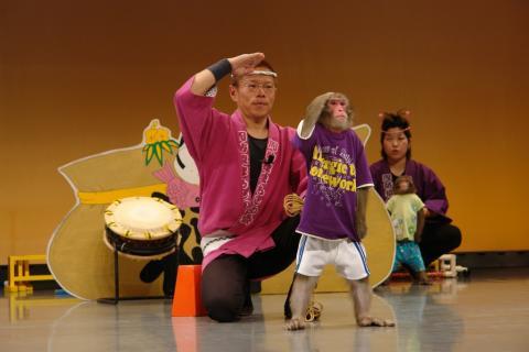 写真:富士お猿の里・河口湖猿まわし劇場