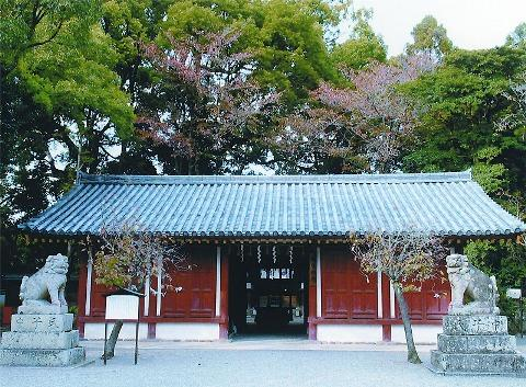 市内唯一の国宝「櫻井神社の割拝殿」