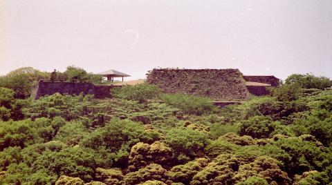 米子城の面影を残す石垣