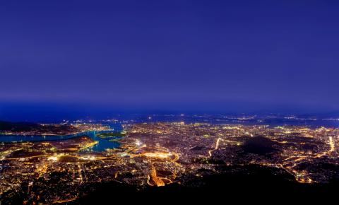 皿倉山頂からの夜景